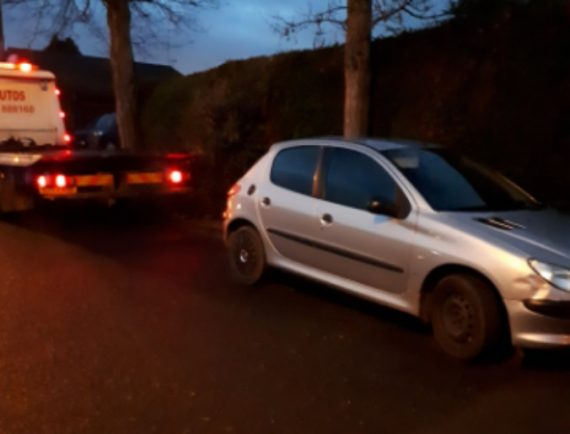 Car seized in Bromsgrove for having no tax
