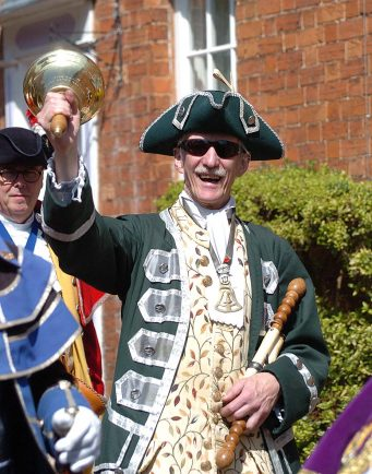 Bromsgrove's Kevin Ward among the Town Criers who headed to Alcester for the annual contest