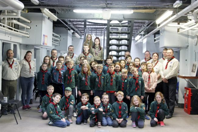 Brave Bromsgrove Scouts become first troop in the country to spend a night in spooky police lock-up