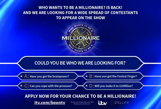 Bromsgrove and Rubery contestants sought for Who Wants to be a Millionaire?
