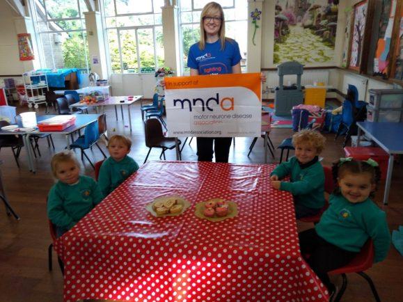 Marlbrook Pre-School brews up cash for Motor Neurone Disease Association